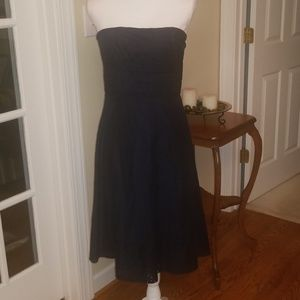 American Eagle navy eyelet strapless dress 6